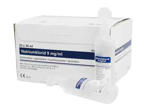 NATRIUMKLORID 9 mg/ml huuhteluneste 30 ml
