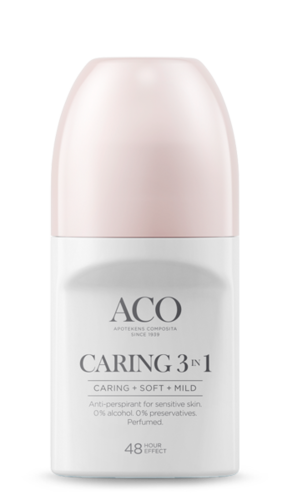 ACO BODY DEO CARING 3 in 1 ANTIPERSPIRANTTI