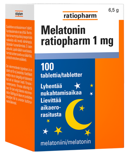 MELATONIN RATIOPHARM 1 mg 100 tabl