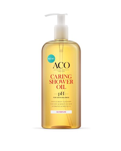 ACO CARING SHOWER OIL hajusteeton 400 ml