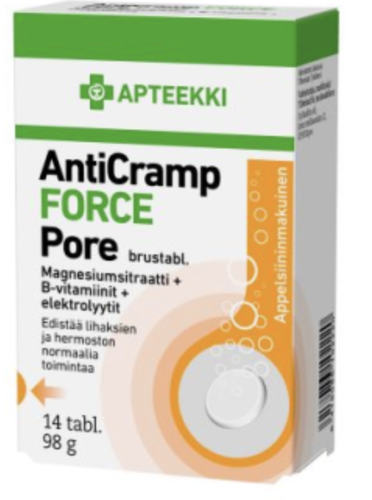 APTEEKKI AntiCramp FORCE Pore 14 tabl.
