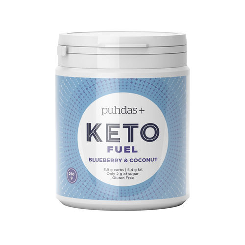 PUHDAS+ KETO Fuel Blueberry & Coconut, 250 g